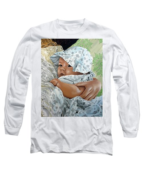 Long Sleeve T-Shirt featuring the painting Layla by William Love