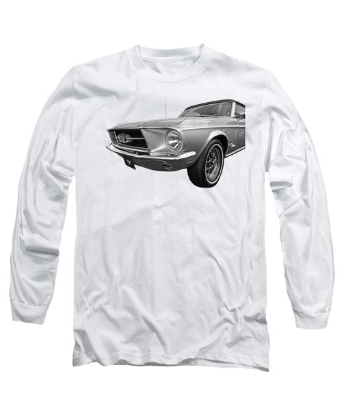 Lazy Days - Black And White Long Sleeve T-Shirt
