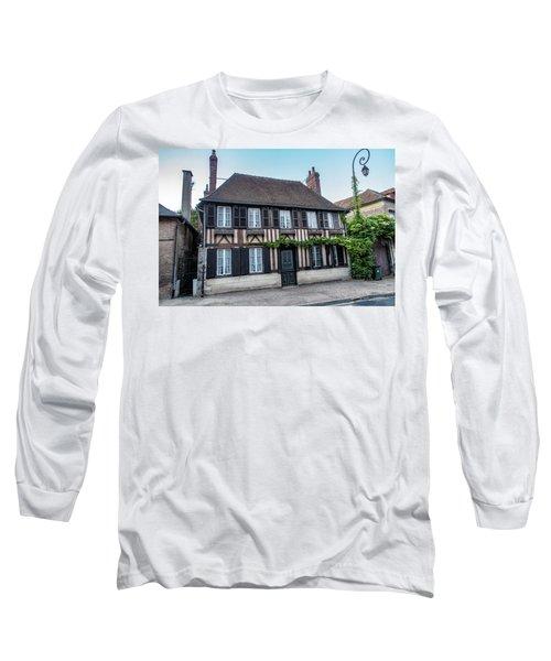 Long Sleeve T-Shirt featuring the photograph Le Vieux Logis D'acquigny by Randy Scherkenbach