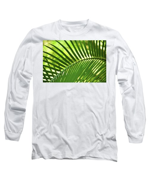 Long Sleeve T-Shirt featuring the photograph Leaf Abstraction Iv by Leda Robertson