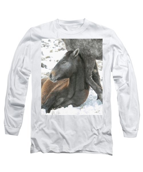 Leaning On Mom Long Sleeve T-Shirt