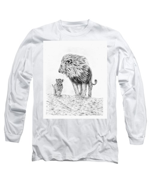 Lion And Cub Long Sleeve T-Shirt