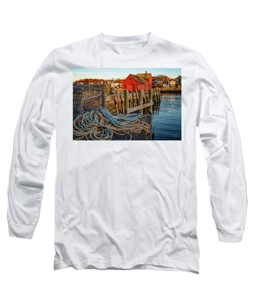 Lobster Traps And Line At Motif #1 Long Sleeve T-Shirt