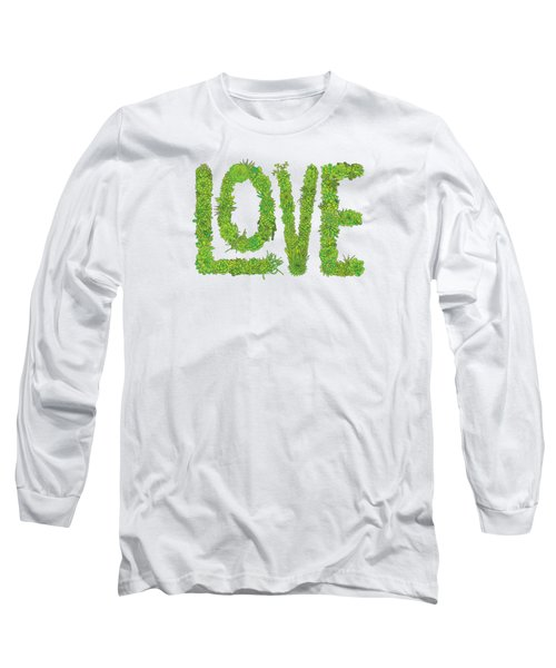 Love Succulent White Background Long Sleeve T-Shirt