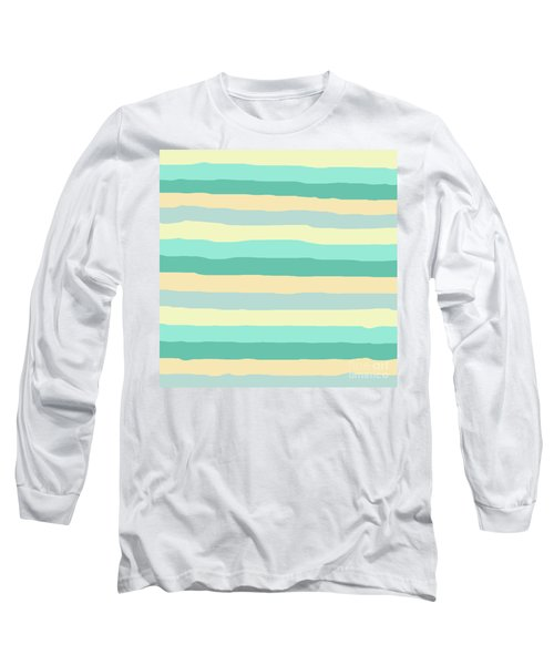 lumpy or bumpy lines abstract and summer colorful - QAB271 Long Sleeve T-Shirt