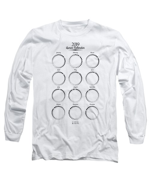 Lunar Calendar 2019 Long Sleeve T-Shirt