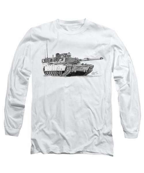 M1a1 Battalion Commander Tank Long Sleeve T-Shirt