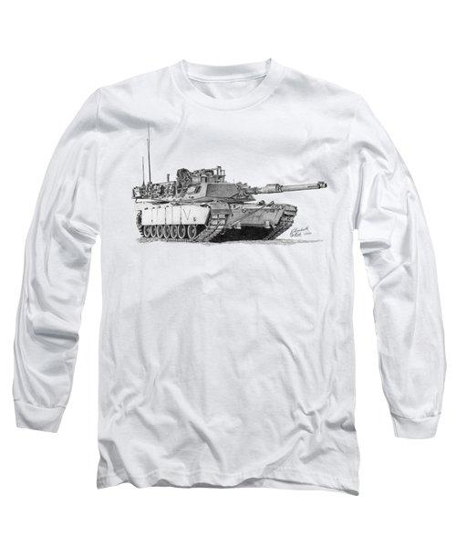 M1a1 C Company Commander Tank Long Sleeve T-Shirt