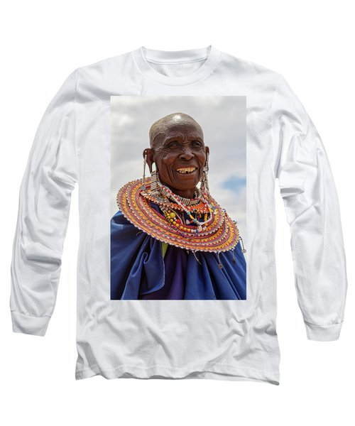 Maasai Woman In Tanzania Long Sleeve T-Shirt