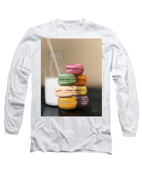 Long Sleeve T-Shirt featuring the pastel Macaroons  by Fe Jones