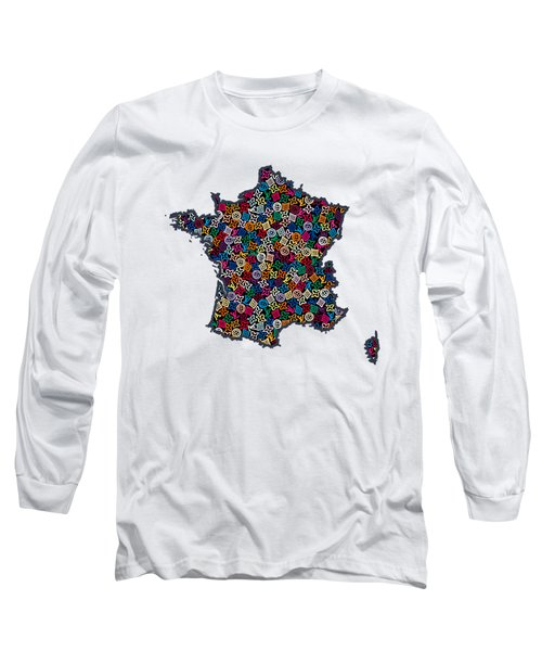 Map Of France-1 Long Sleeve T-Shirt
