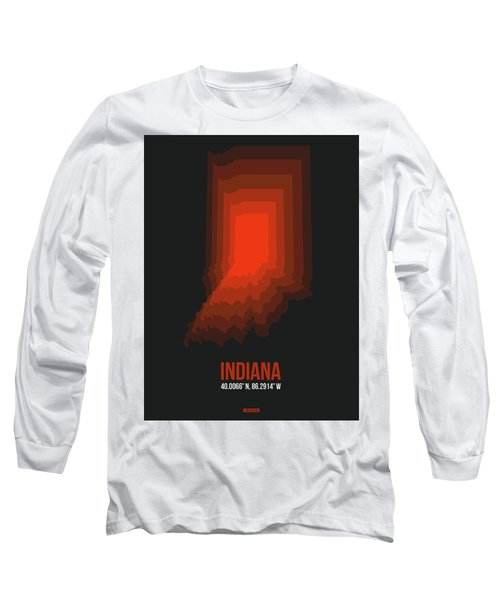 Map Of Indiana 1 Long Sleeve T-Shirt