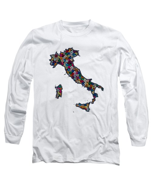 Map Of Italy-1 Long Sleeve T-Shirt