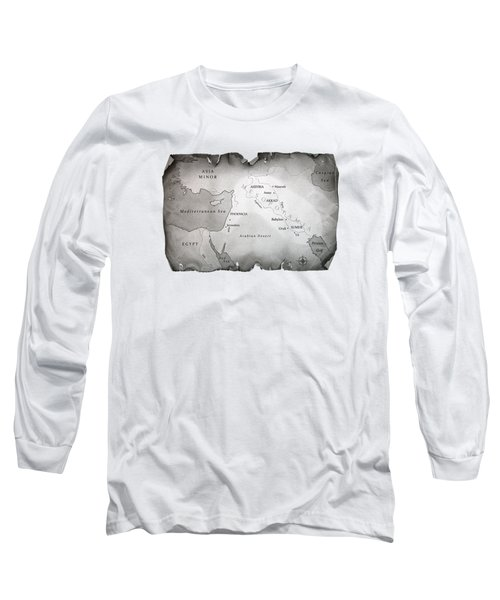 Map Of Mesopotamia Long Sleeve T-Shirt