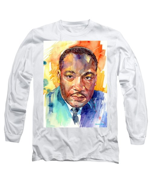 Martin Luther King Jr Watercolor Long Sleeve T-Shirt