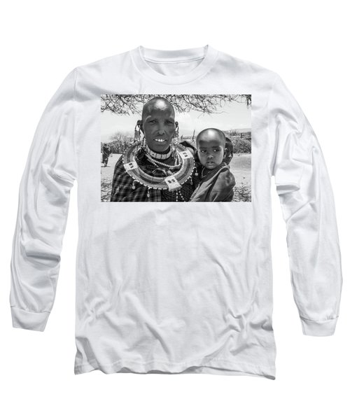 Masaai Mother And Child Long Sleeve T-Shirt
