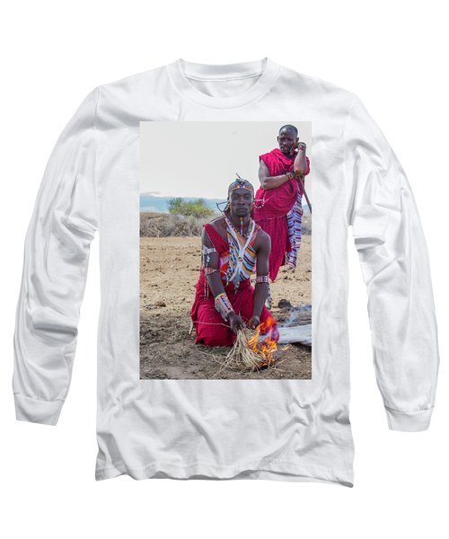 Maasai Warrior Long Sleeve T-Shirt