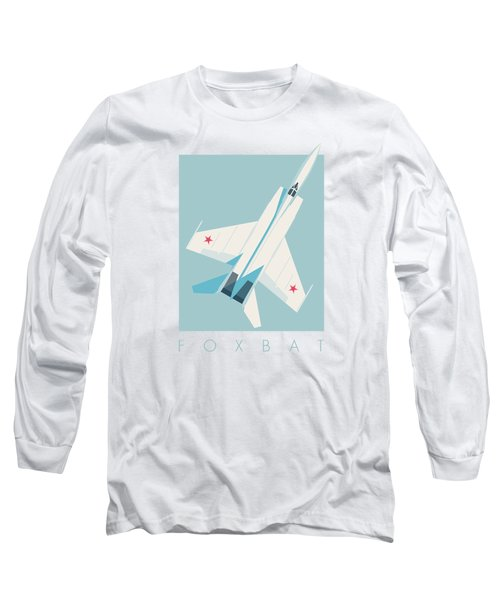 Mig-25 Foxbat Interceptor Jet Aircraft - Sky Long Sleeve T-Shirt