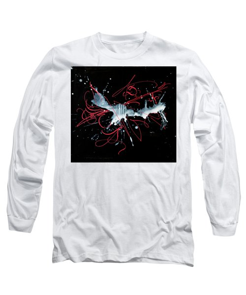 Milky Way. Calligraphic Abstract Long Sleeve T-Shirt