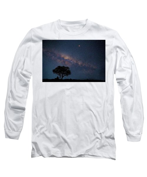 Milky Way Over Africa Long Sleeve T-Shirt