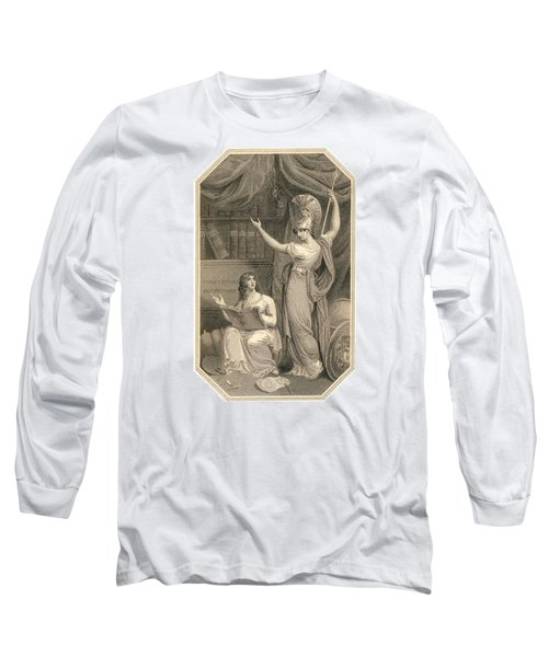 Minerva Directing Study To The  Attainment Of Universal Knowledge Long Sleeve T-Shirt