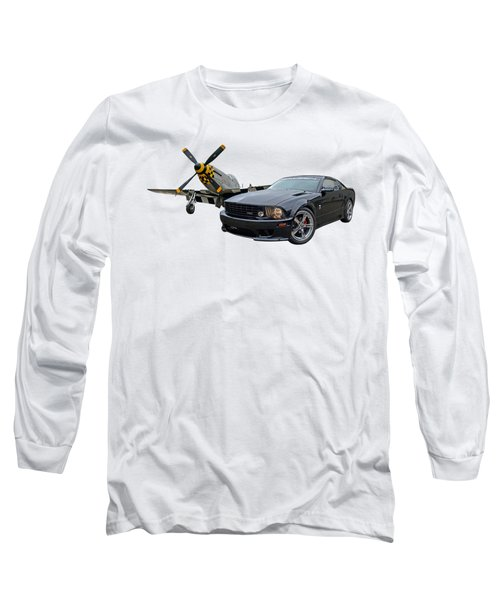 Mission Accomplished - P51 With Saleen Mustang Long Sleeve T-Shirt