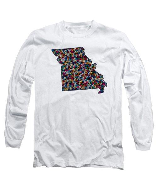 Missouri Map - 3 Long Sleeve T-Shirt