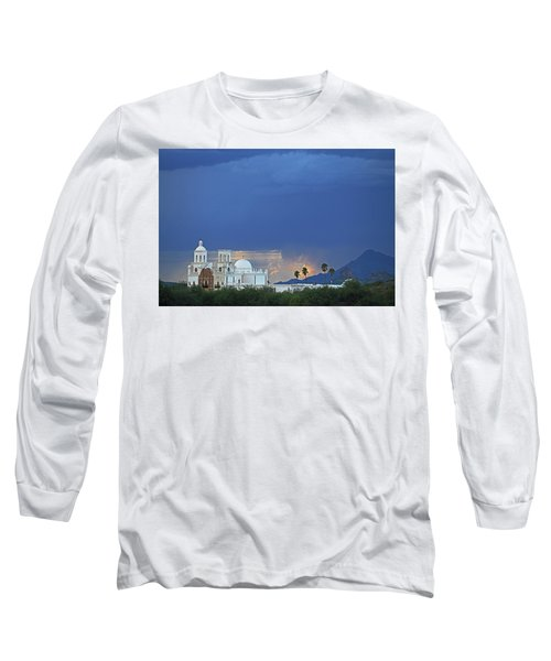 Monsoon Skies Over The Mission Long Sleeve T-Shirt