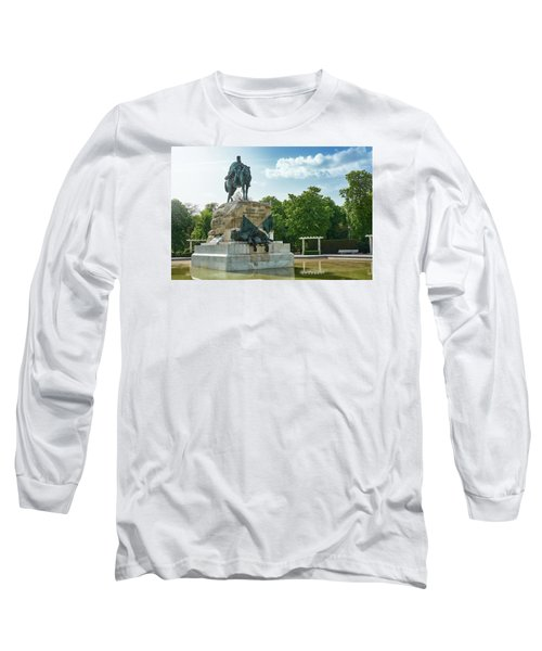 Monument To General Arsenio Martinez Campos In Madrid, Spain Long Sleeve T-Shirt