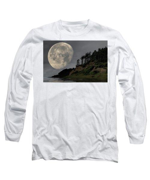 Moon And Beach Long Sleeve T-Shirt