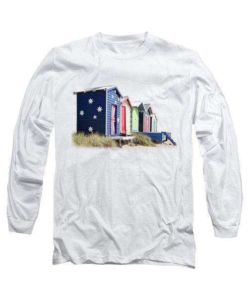 Mornington Bathing Boxes Long Sleeve T-Shirt