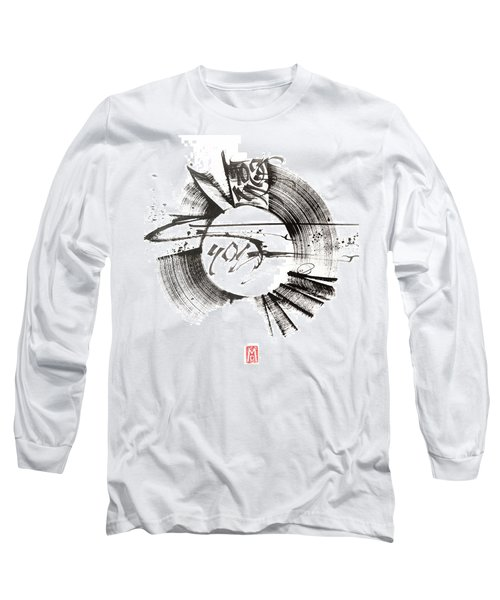 My Soul. White. Calligraphic Abstract Long Sleeve T-Shirt