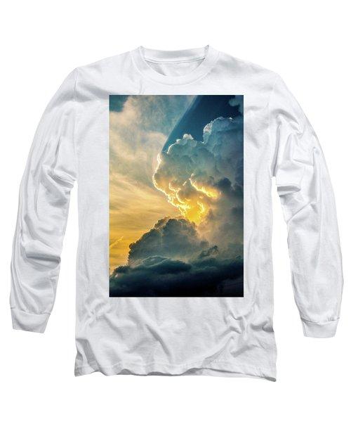 Nebraska Sunset Thunderheads 075 Long Sleeve T-Shirt