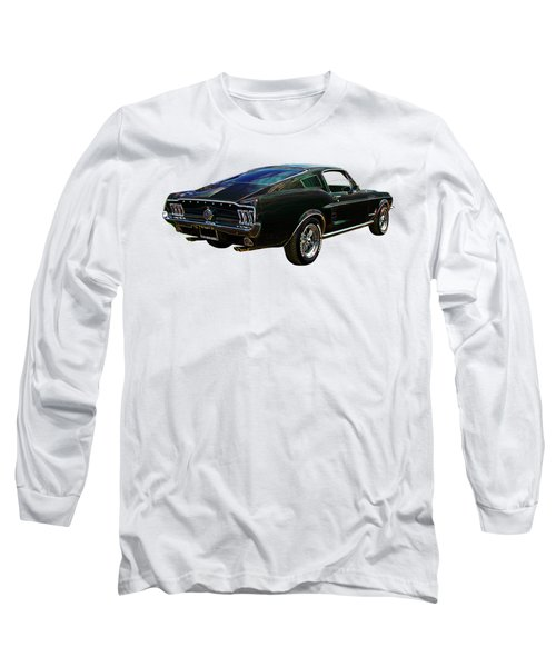 Neon Mustang Fastback 1967 Long Sleeve T-Shirt