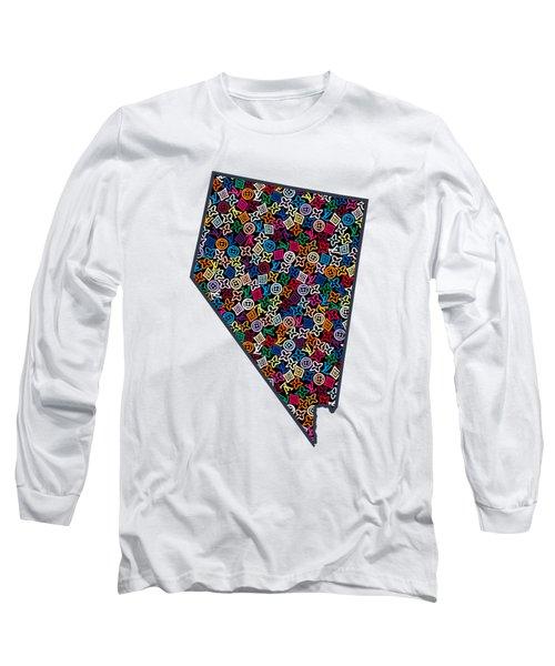 Nevada Map - 1 Long Sleeve T-Shirt