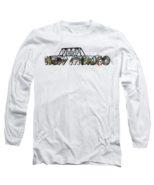 New Mexico Big Letter Long Sleeve T-Shirt