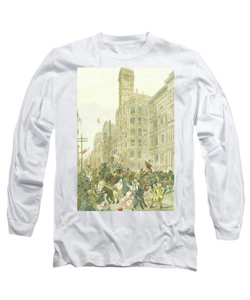 New Years Mummers On Chestnut Street Long Sleeve T-Shirt