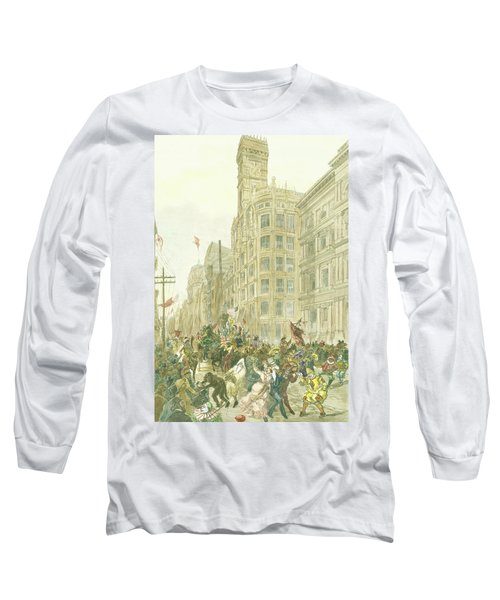 New Years Mummers On Chestnut Street Long Sleeve T-Shirt