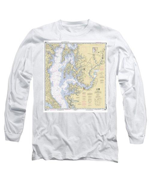 Chesapeake Bay, Cove Point To Sandy Point Nautical Chart Long Sleeve T-Shirt