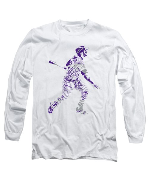 Nolan Arenado Colorado Rockies Pixel Art 5 Long Sleeve T-Shirt