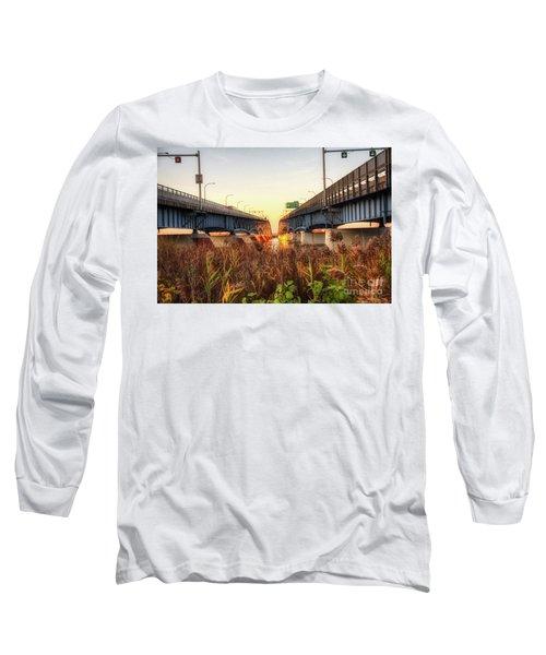 North Grand Island Bridges Long Sleeve T-Shirt