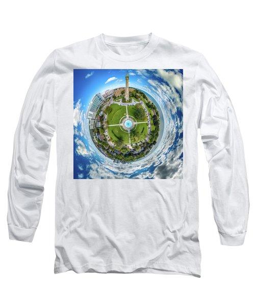 Long Sleeve T-Shirt featuring the photograph Northpoint Water Tower Little Planet by Randy Scherkenbach