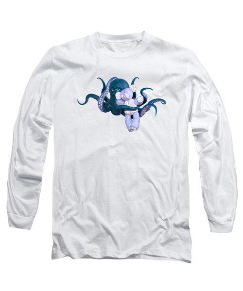 Octopus And Purple Bear Long Sleeve T-Shirt