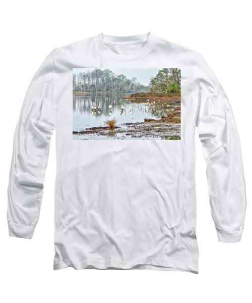 Old Rice Pond Long Sleeve T-Shirt
