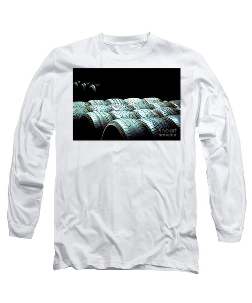 Old Tires And Racing Wheels Stacked In The Sun Long Sleeve T-Shirt