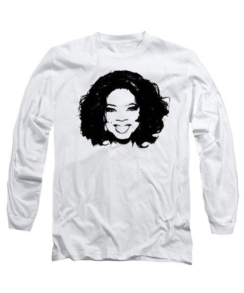 Oprah Minimalistic Pop Art Long Sleeve T-Shirt