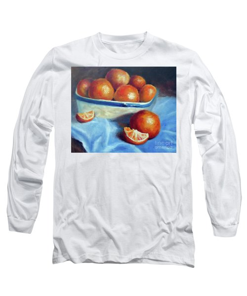 Oranges And Blue Long Sleeve T-Shirt