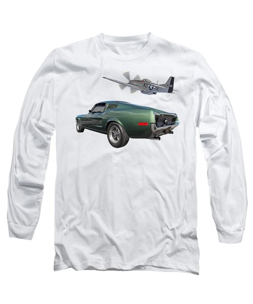 P51 With Bullitt Mustang Long Sleeve T-Shirt