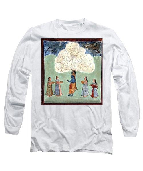 Painting Fresco Of Krishna In The Women's Zenana Long Sleeve T-Shirt