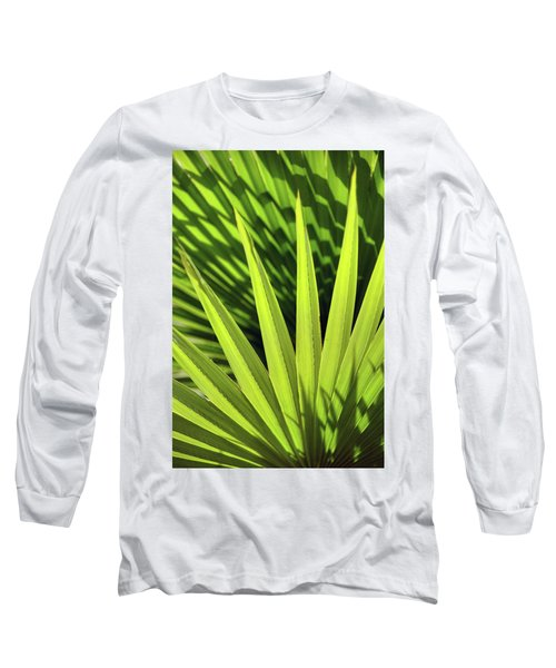 Long Sleeve T-Shirt featuring the photograph Palm Portrait II by Leda Robertson